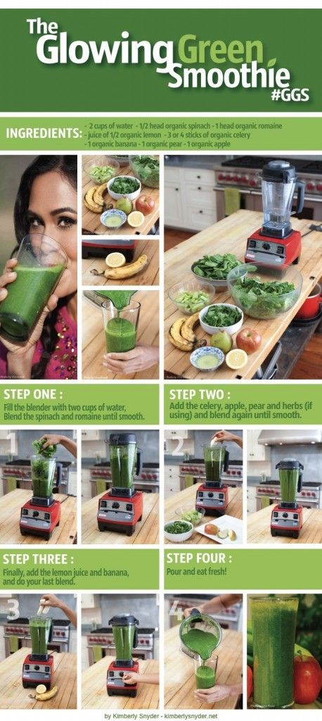 The Glowing Green Smoothie Recipe by Kimberly Snyder | GGS Recipe