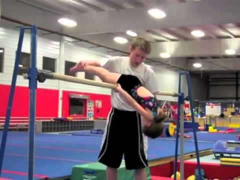 Teaching a Pull Over - One of my daughter's goals for herself in gymnastics, to do a pullover