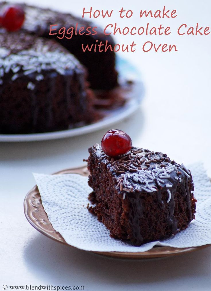 How to make Eggless Chocolate Cake Recipe without Oven. Pressure Cooker Cake Recipe with Step by Step Photos. | blendwithspices.com