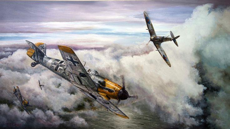 Download hd wallpapers of 118649-Messerschmitt, Messerschmitt Bf-109, World War…