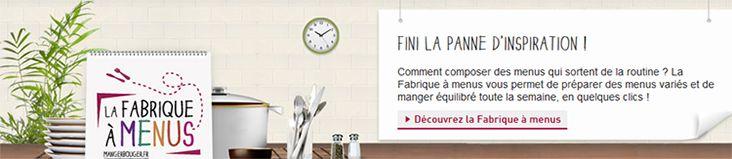 Inpes - Actualités 2013 - La fabrique à menus, un nouvel outil pour manger équilibré à la disposition de tous les Français