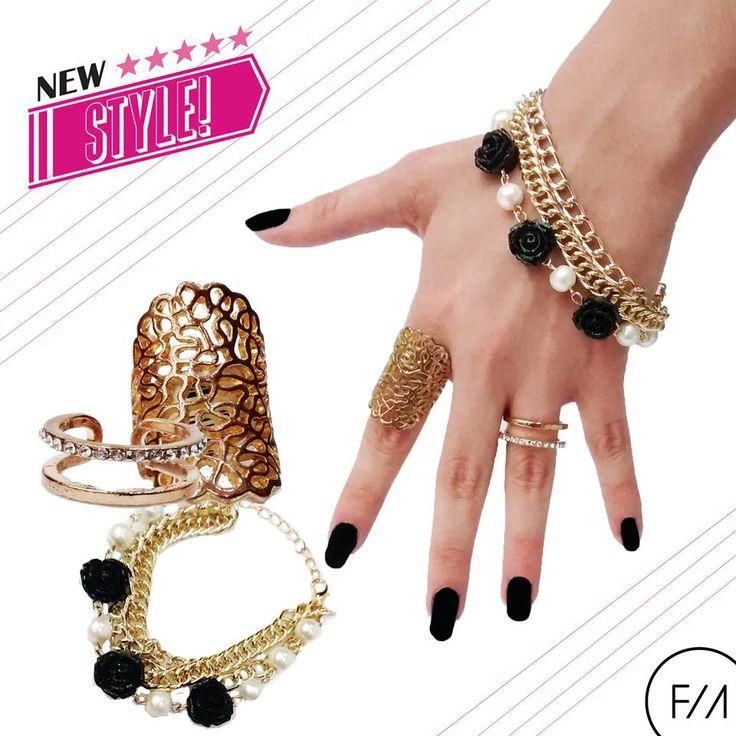 Prueba algo nuevo... Te presentamos un nuevo #estilo que podrás utilizar, con el #look que gustes. Pulsera y anillos podrás encontrarlos en nuestras sucursales de Fresa / Fresa Magenta.