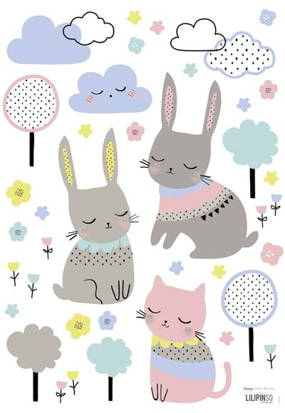 print & pattern For Lilipinso - © Aless Baylis - an illustrator and surface pattern designer based in London