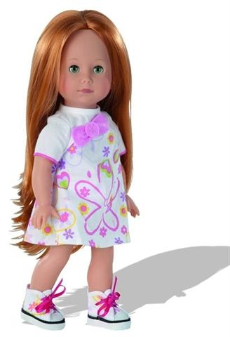 Lucia has long red hair and beautiful green eyes.The dolls of the Just Like Me collections have not only their own names, they also have their own personality. Hair and eye color are different, so each represent a very unique character.
