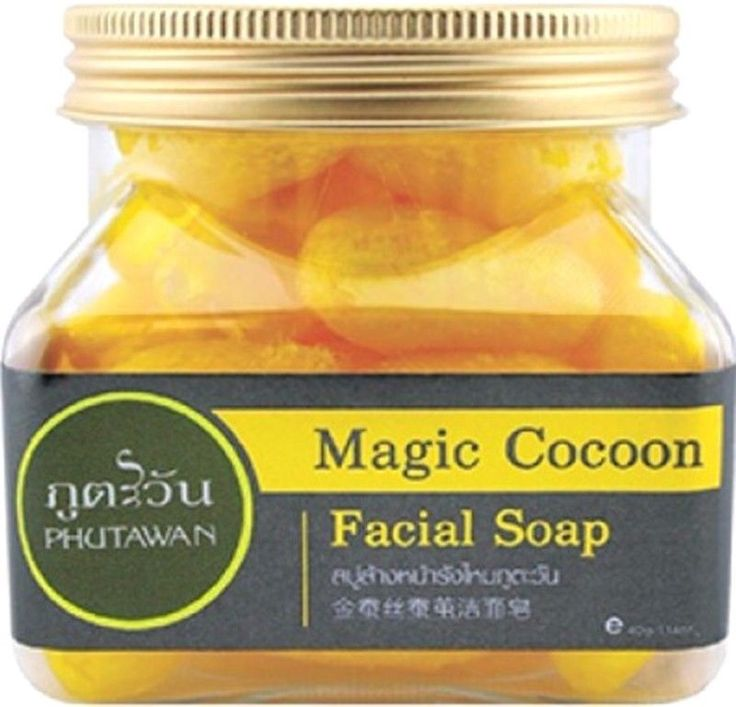 40 g Magic Cocoon Ficial Soap Phutawan Reduce Face Wrinkles Blemishes Dark Sport #Phutawan
