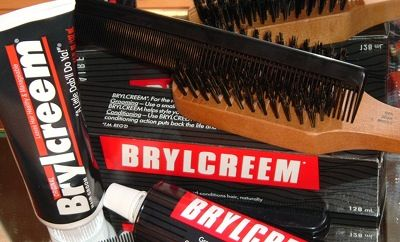 Brylcream, a little dab will do ya!   Hair cream of the past!