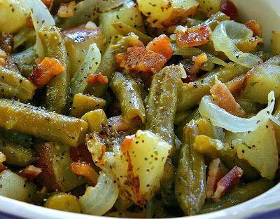 Yummy Recipe: One Pan Bacon and Potato Ranch Green Beans