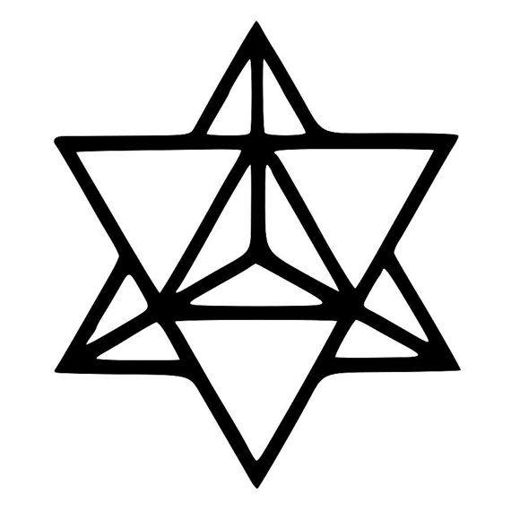 Tetraedro estrella geometría sagrada por BeeMountainGraphics