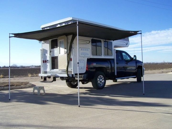 Foxwing On Camper Pickup Truck Camping Pickup Camper