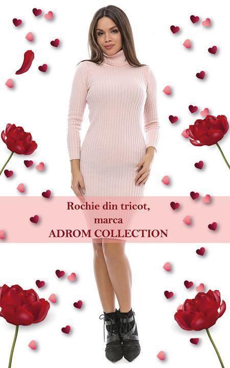 Un model nou de rochie confecționată din tricot, cu mâneci lungi și perfect pentru sezonul de iarnă, este rochia din tricot 3. Are un guler foarte înalt și o croială pe corp, care accenteaza foarte frumos talia.   Pentru comenzi online: http://www.adromcollection.ro/rochii/441-rochie-angro-din-tricot-3.html