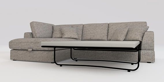 Buy Stratus III Large LH Corner Chaise & Occ Sofabed (4 seats) Boucle Weave Light Dove from the Next UK online shop