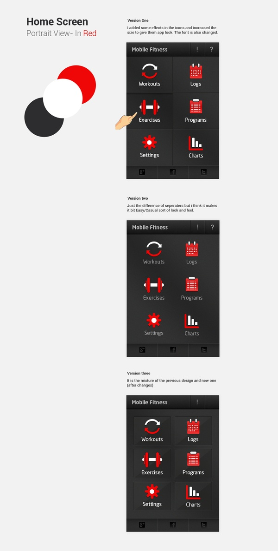 Fitness App on the Behance Network