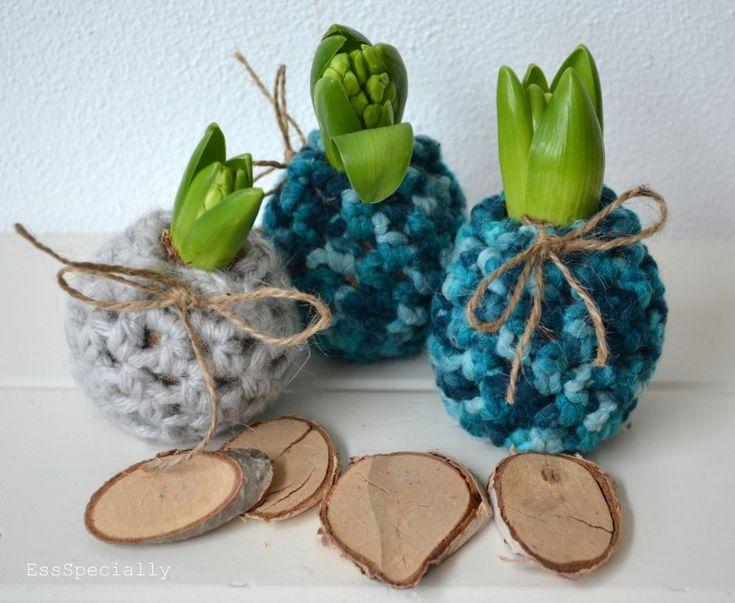 Kijk wat ik gevonden heb op Freubelweb.nl: het gratis patroon van @essspecially om deze leuke hyacint jasjes te maken! http://www.freubelweb.nl/freubel-zelf/zelf-maken-met-haakgaren-hyacint-jasjes/