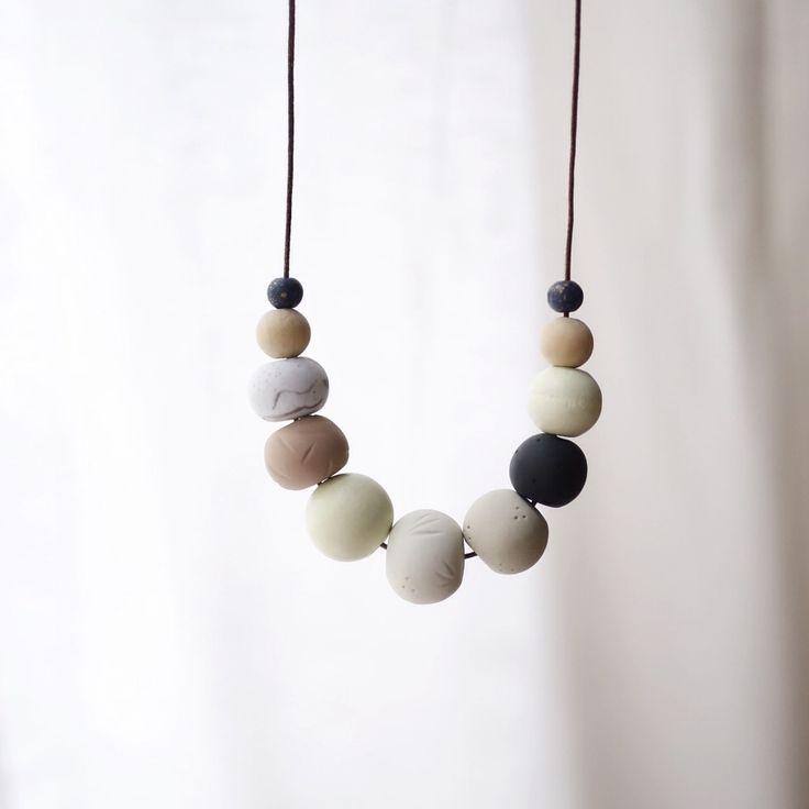 Rose Quarts & Co. needibeads polymer clay necklace