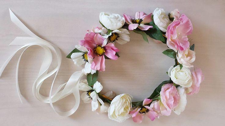 DIY couronne de fleurs Par Anne Del Socorro.  http://www.portraitoupaysage.com/diy-couronne-de-fleurs/