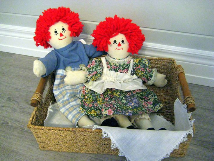 Raggedy Ann and Andy dolls, Vintage dolls, Red yarn rag doll set of 2, Anne and Andy dolls at Designs By Willowcreek onEtsy by DesignsByWillowcreek on Etsy