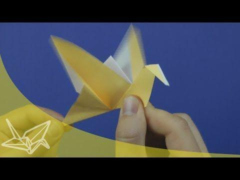 ▶ Origami Flapping Bird - YouTube