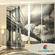 "Schiebegardine ""Brücke"" Schiebevorhang 4-er Set Luxus Fotodruck 3D Maßanfertigung kaufen bei Hood.de"