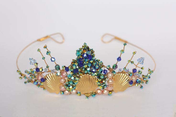 "Mermaid bridal tiara by Samantha Walden. For more Alternative Wedding inspiration, check out the No Ordinary Wedding article ""20 Quirky Alternatives to the Traditional Wedding""  http://www.noordinarywedding.com/inspiration/20-quirky-alternatives-traditional-wedding-part-4"
