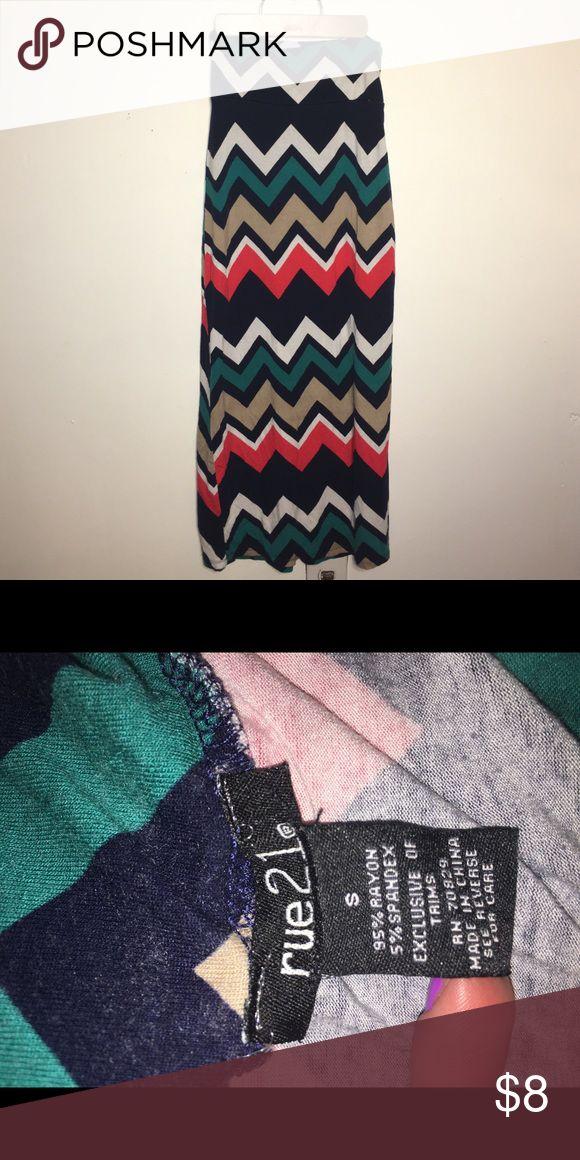 Chevron maxi skirt Good used condition Rue21 Skirts Maxi