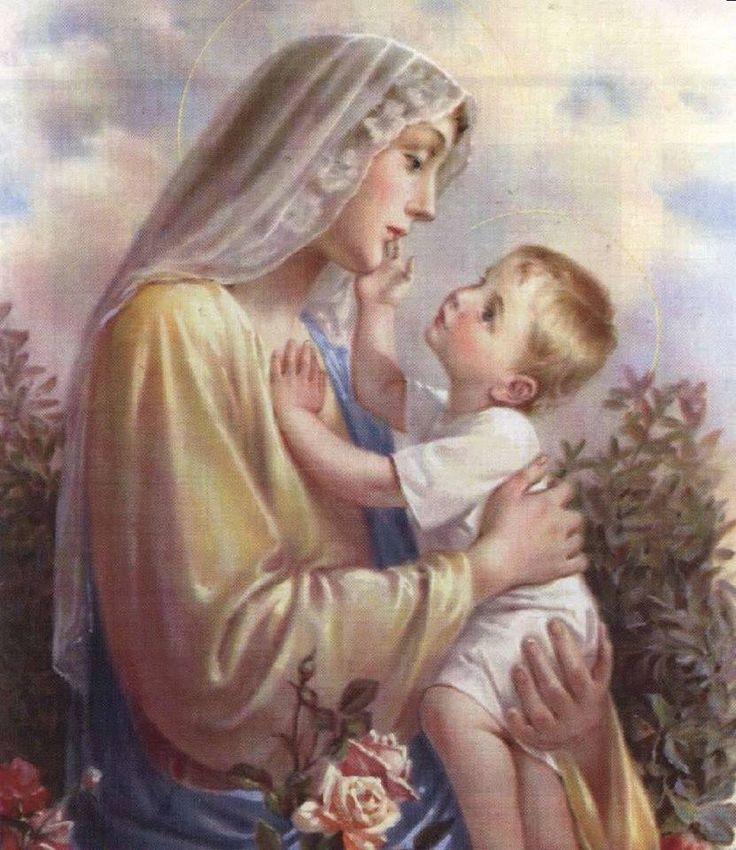 Открытки детям, картинки дева мария и иисус