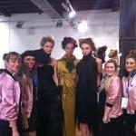 The Pink Ladies at Kiri Nathan fashion show.