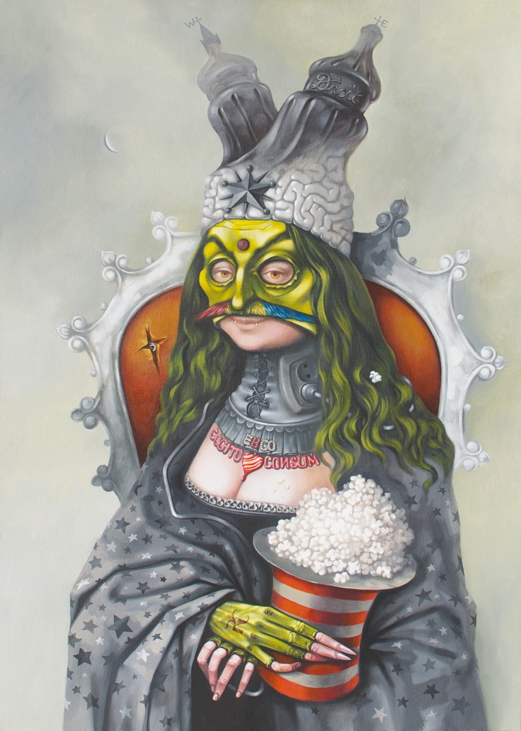 True Vlad,  acrylic on canvas,  100x70