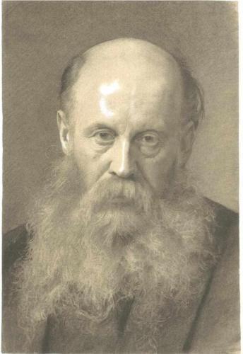 Gustav Klimt ~ Portrait of a man with beard, 1879 (charcoal)