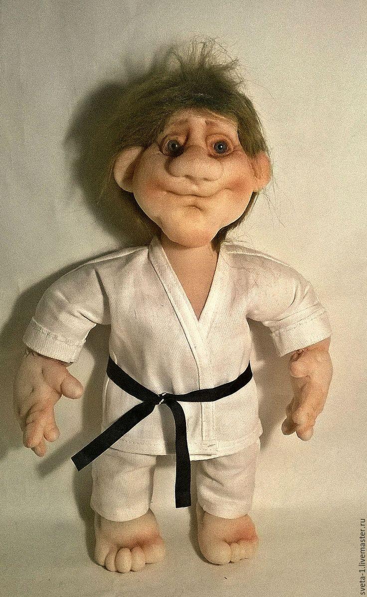 Купить борец - белый, интерьерная кукла, спортсмен, боевые искусства, подарок на любой случай, капрон