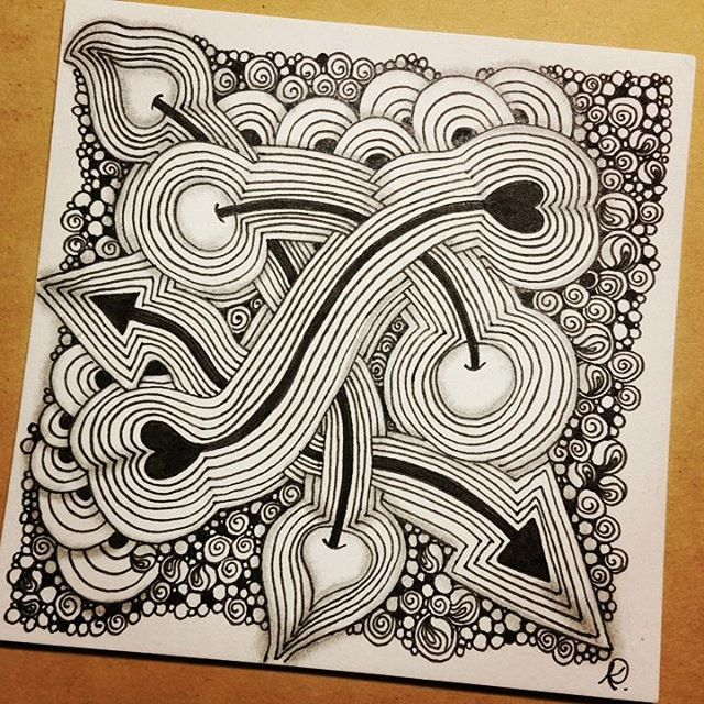 Zentangle 022816. #zendoodle #zentangle #doodle #doodleart #drawing #draw #painting #art #artwork #sketch #sketchbook #zenart #zentangleart #zentangleinspiration #onezentangleaday #learnzentangle