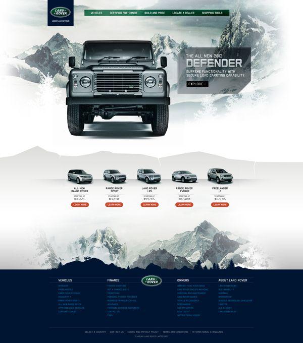 Land Rover Defender by Emerson Bantegui, via Behance
