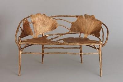 Gingko  Bench  le Musée des Arts Décoratifs à Paris pièces sont mises en scènes pour découvrir l'univers des Lalanne.