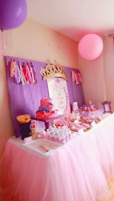 Pink Tulle Tablecloth & Pink Tutu Table Skirt #birthday_decor #Housewares #mint_tutu_tablecloth