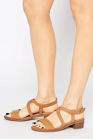 New Look Wide Fit Beaded Flat Sandal from Asos