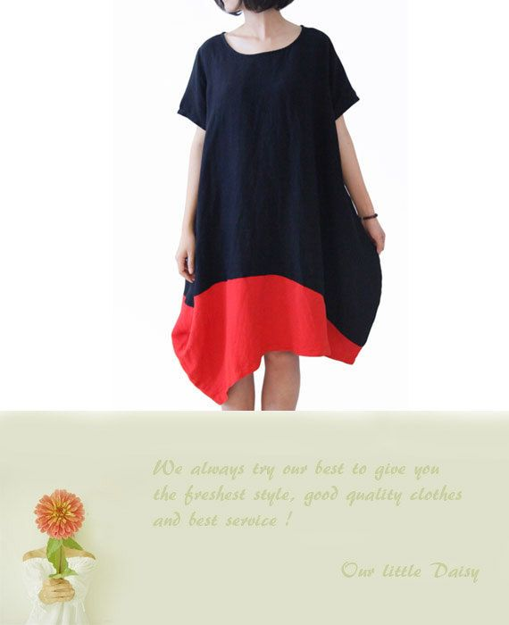 Woman Dress Linen dress Cotton Dress Summer by OurLittleDaisy, $89.00