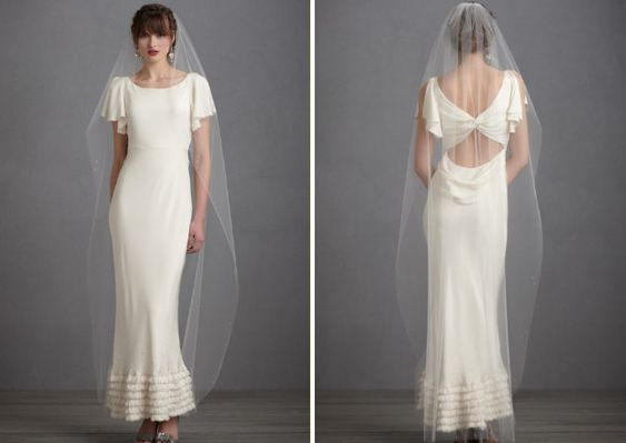 Matching Your Hairstyle To Your Veil By BHLDN. Floor Length ...