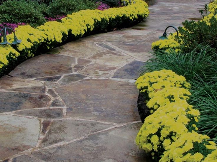 47 best images about flagstone paths walkways mortar for Garden path designs pavers