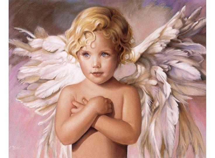 Angel, картина по номерам, раскраска по номерам, paint by numbers, купить картину по номерам, ангелы - Милосердие, художник Нэнси Ноэль - Zvetnoe.ru - раскраски по номерам