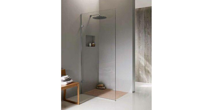 Frameless Monaco - fixed shower panel