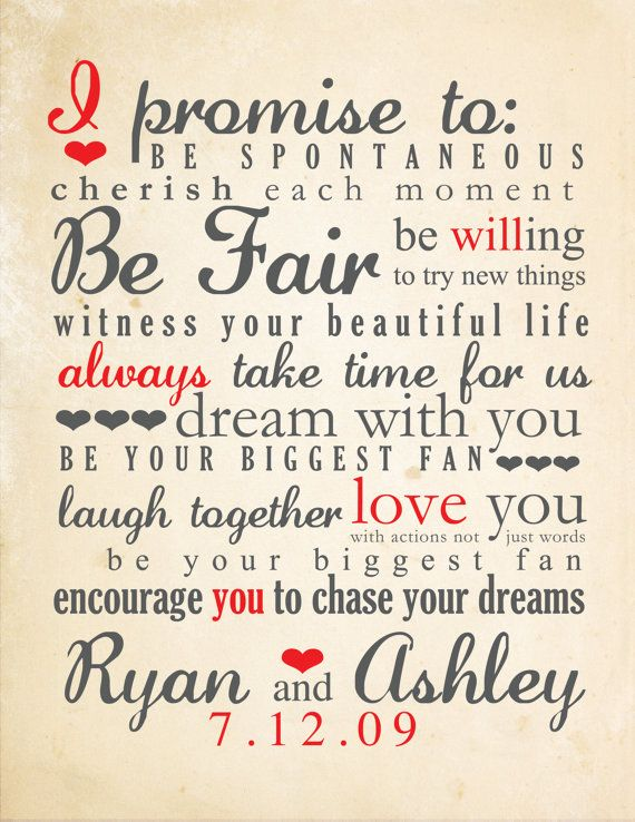 Perfect! (And beats the heck out of the unimaginative typical marriage vows) #Printable Inspiration --> wedding vows typography