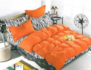 Set lenjerie de pat Orange animal print
