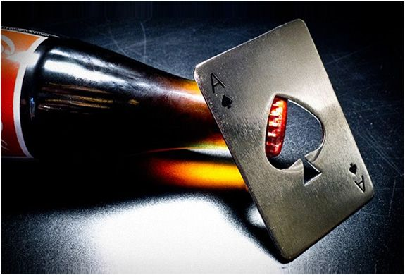 Ace of Spades.  What else would you use for a bottle opener?  Nothing...that's what...