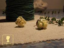 Pravé české růženky, puzetové náušnice
