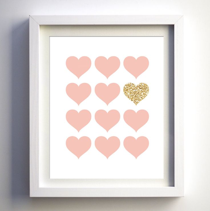 Pink and glitter prints nursery wall art pink and by FancyDigitals