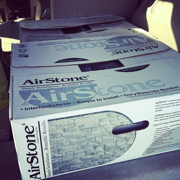 airstone-this stuff is AWESOME and can be used in many different places...I am thinking backsplash in kitchen and/or in the bathroom. check out the pictures in link.