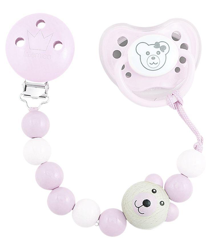Littlemico™ Teddy Pacifier holders Gift Set, Girl.