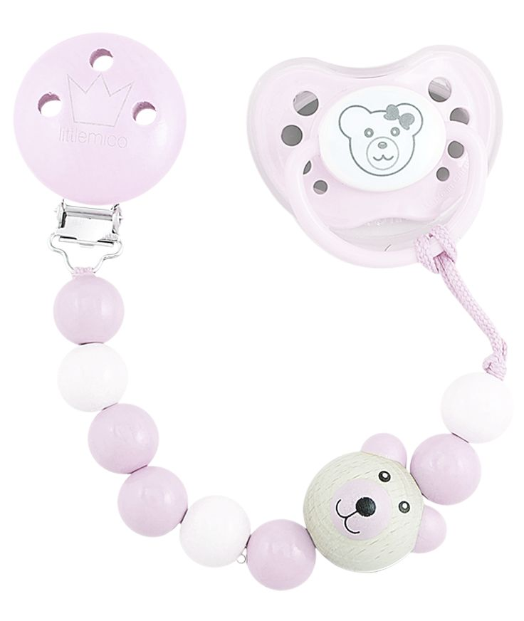 Littlemico™ Teddy Pacifier holders Gift Set, Girl.