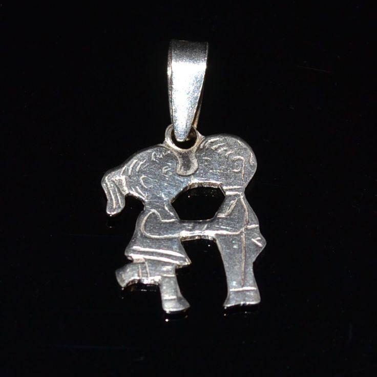 Zilveren bedel van een stelletje. Schattige bedel kan ook als hanger gebruikt worden Gratis verzending in Nederland!