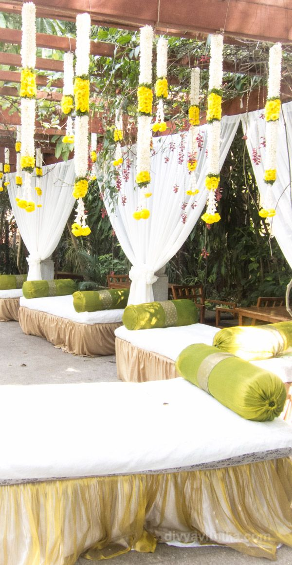 Here's the wedding decor that we put together for an afternoon tea party at the Taj West End in Bangalore. #IndianWedding #WeddingPlanner