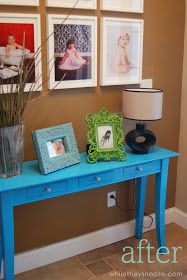 While They Snooze: Entry Table Makeover